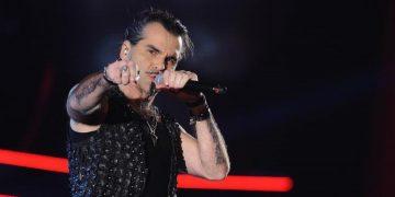 25/04/2013, Milano, programma televisivo The Voice of Italy. Nella foto Piero Pelu'