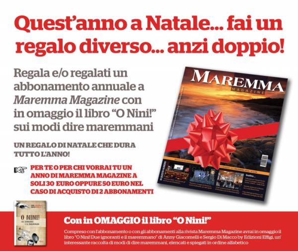 Idee Regalo Natale 30 Euro.Idea Regalo Di Natale Maremma Magazine
